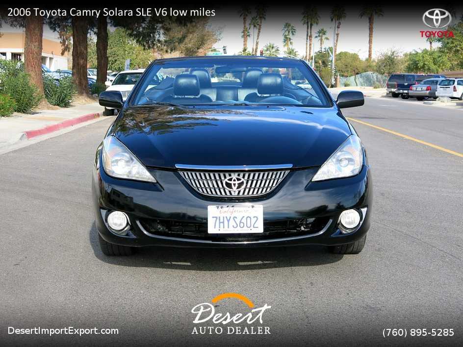 2006 Toyota Camry Solara For Sale In Palm Desert Ca