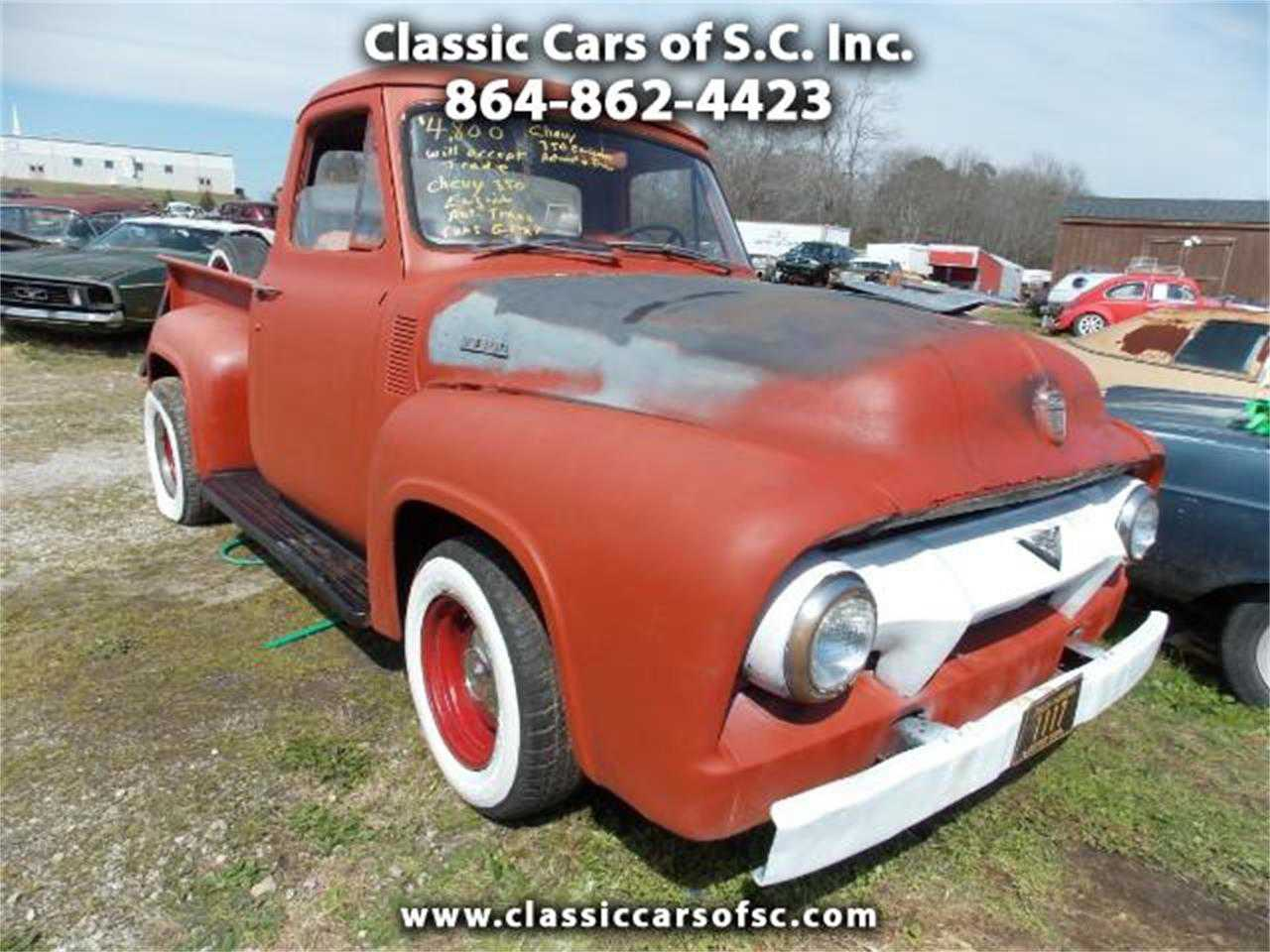 1954 Ford F100 For Sale In Gray Court Sc 1955 Project