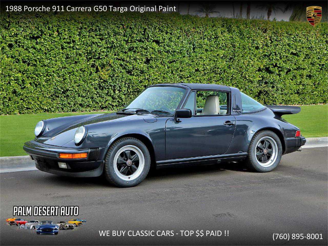 1988 Porsche 911 >> 1988 Porsche 911 For Sale In Palm Desert Ca Wp0eb091xjsxxxxxx