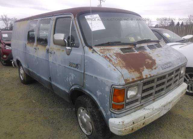 1989 DODGE RAM VAN for sale in Fredericksburg, VA
