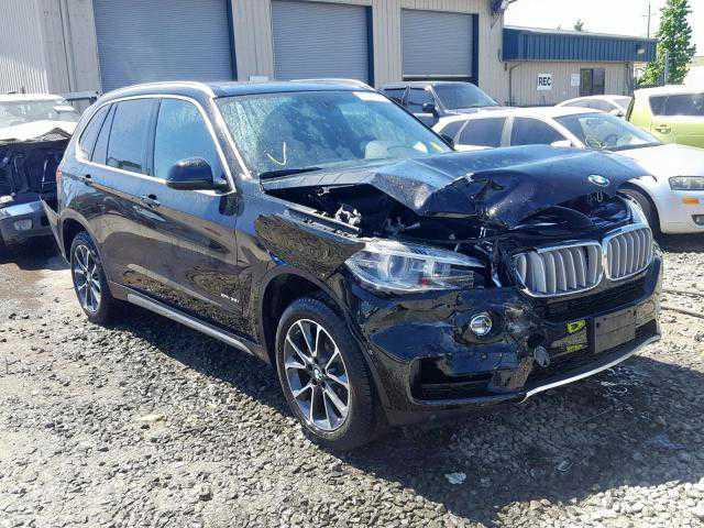 Black broken BMW car