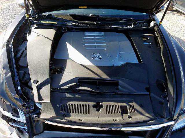 Broken Lexus' engine