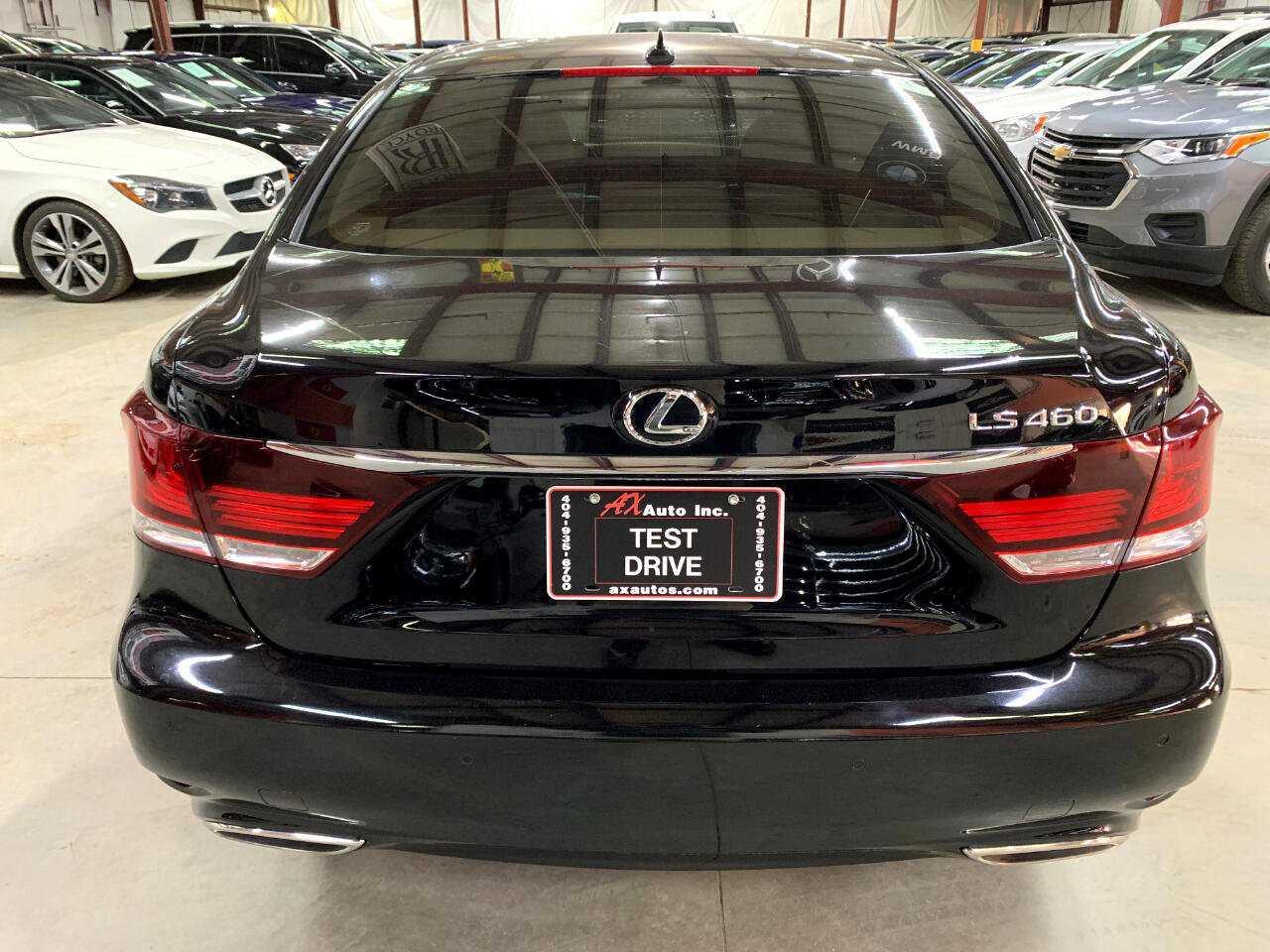 New black Lexus back view