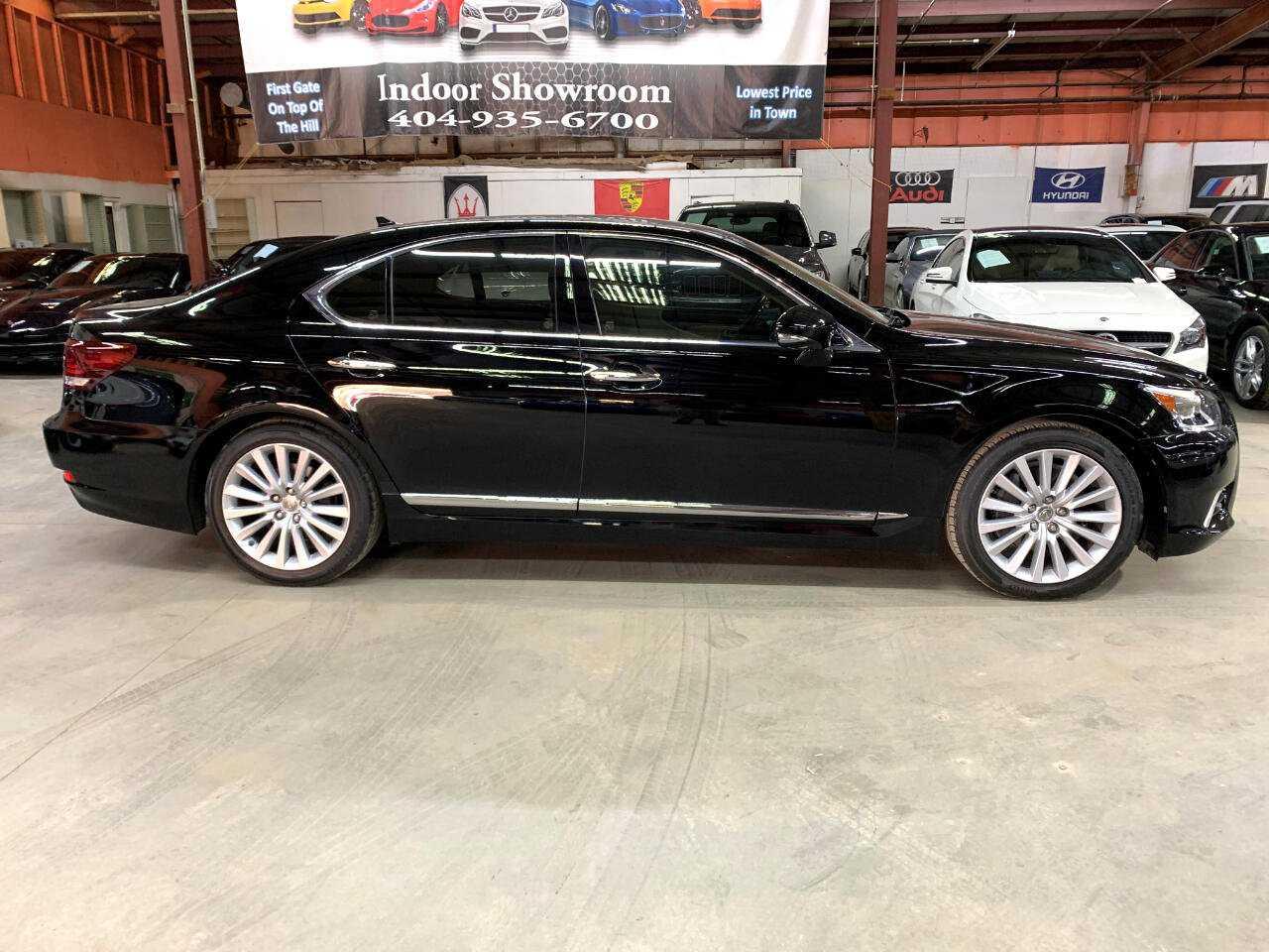 New black Lexus side view