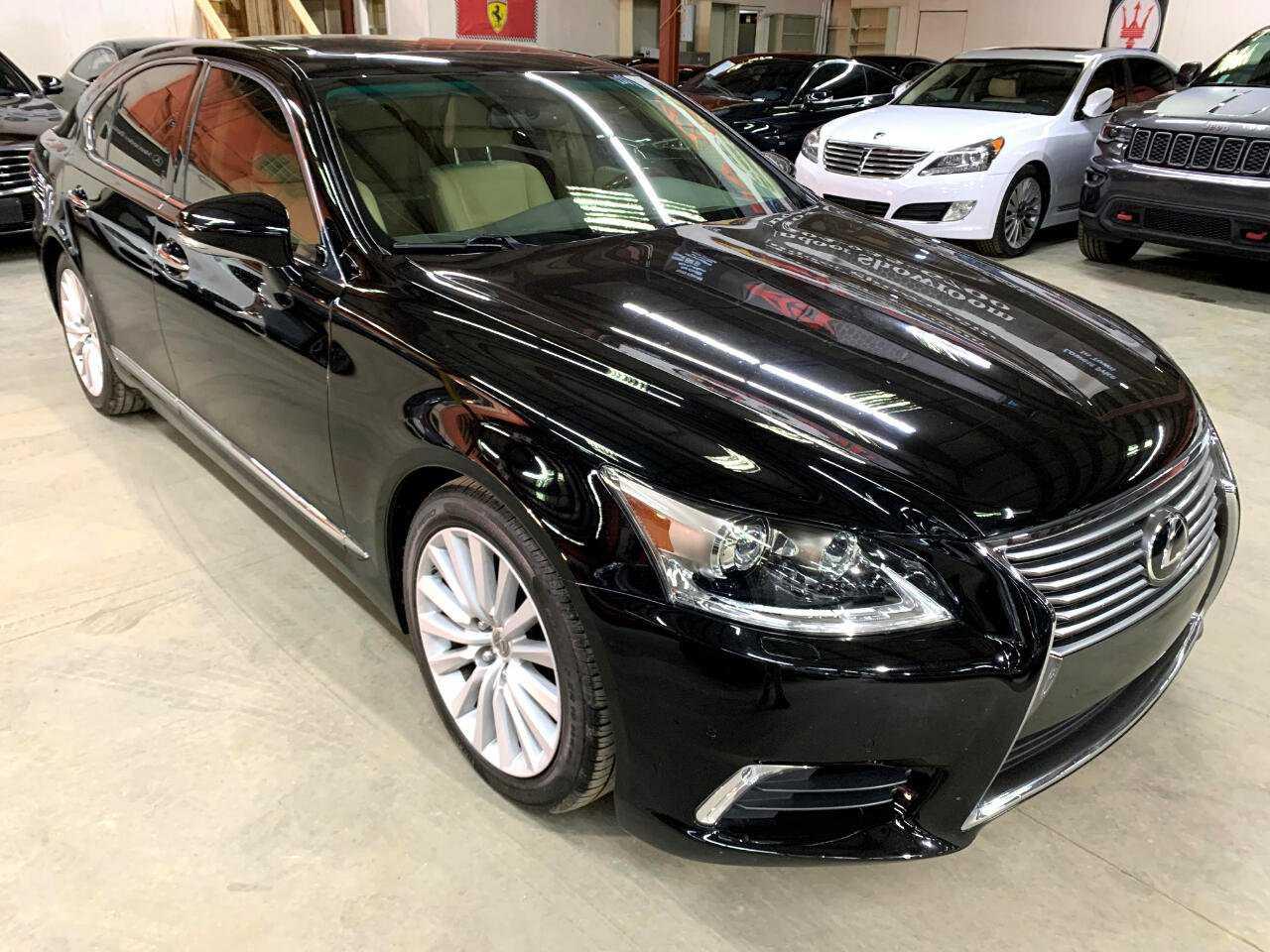 New black Lexus 3/4 front view